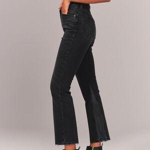 A&F Ultra high rise kick flare jeans